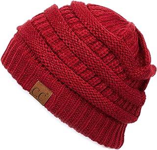 C.C Hatsandscarf Exclusives Unisex Soft Stretch Fuzzy Sherpa Lined Beanie Hat (HAT-25)