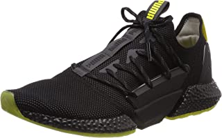 PUMA Men's Hybrid Rocket Runner Sneaker, Asphalt Black-Blazing Yellow