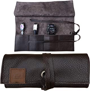 COLTON SCOTT CREATIONS Leather Travel Watch Roll-Watch Case Display Organizer and Storage for 4 watches, Gift Accessory fo...