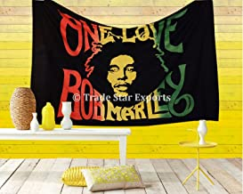 Trade Star Exports Bob Marley Tapestry, Indian Wall Hanging, Hippie Decor, Bohemian Bedding Single, Boho Picnic Throw, Gypsy Beach Blanket