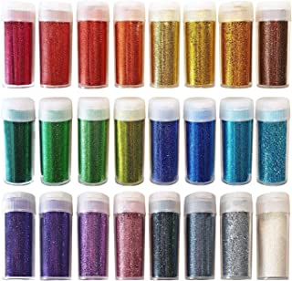 Original Stationery Glitter Shake Jars for Halloween Decor, Face Paint - Extra Fine Powder, 24 Multi Color Assorted Set. Works for Slime, School and Children's Projects (24 pcs)