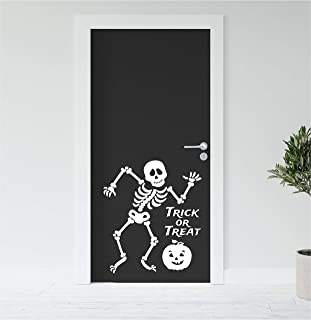 Halloween Skeleton Dancing With Pumpkin Trick Or Treat Wall Decal Sticker Party Supplies Decoration Choose Size Color