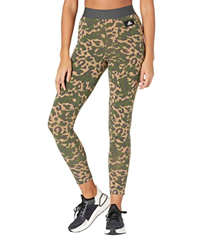 adidas All Over Print Cotton Tights (Cardboard) Women