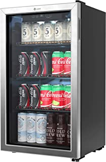 Vremi Beverage Refrigerator and Cooler - 100 to 120 Can Mini Fridge with Glass Door for Soda Beer or Wine - Auto Defrost D...