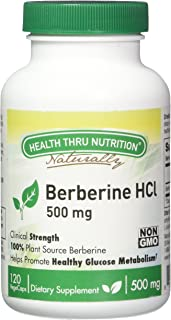 Health Thru Nutrition Berberine HCL 500Mg Vege-Capsules Non-GMO, 120 Count