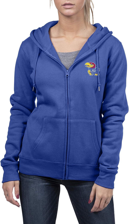 Top of the World Womens Essential Full Zip Fleece Hoodie Sweatshirt