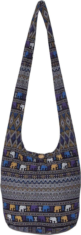 Elephant Hippie Cute Bohemian Boho Cross Body Hobo Crossbody Bag 39 inch