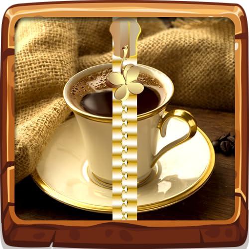 Kaffee-Reißverschluss-Bildschirm