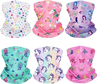 6Pcs Children Neck Gaiter Bandanas Kids Face Mask Scarf...
