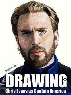 Clip: Drawing Chris Evans as Captain America