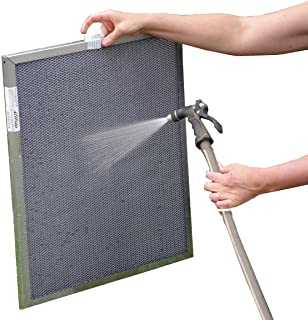 21-1/2x23-1/2x1 Electrostatic Washable Permanent A/C Furnace Air Filter - Reusable - Silver Frame - Lifetime Warranty