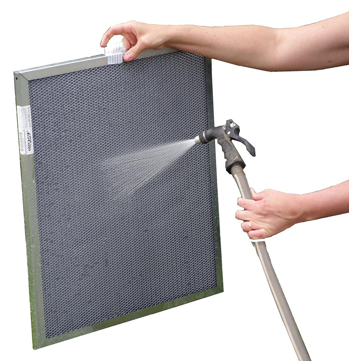 20x22x1 Electrostatic Washable Permanent A/C Furnace Air Filter - Reusable - Silver Frame - Lifetime Warranty