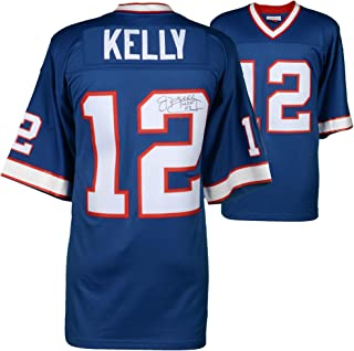 Jim Kelly Buffalo Bills Autographed Mitchell & Ness Blue Replica Jersey with