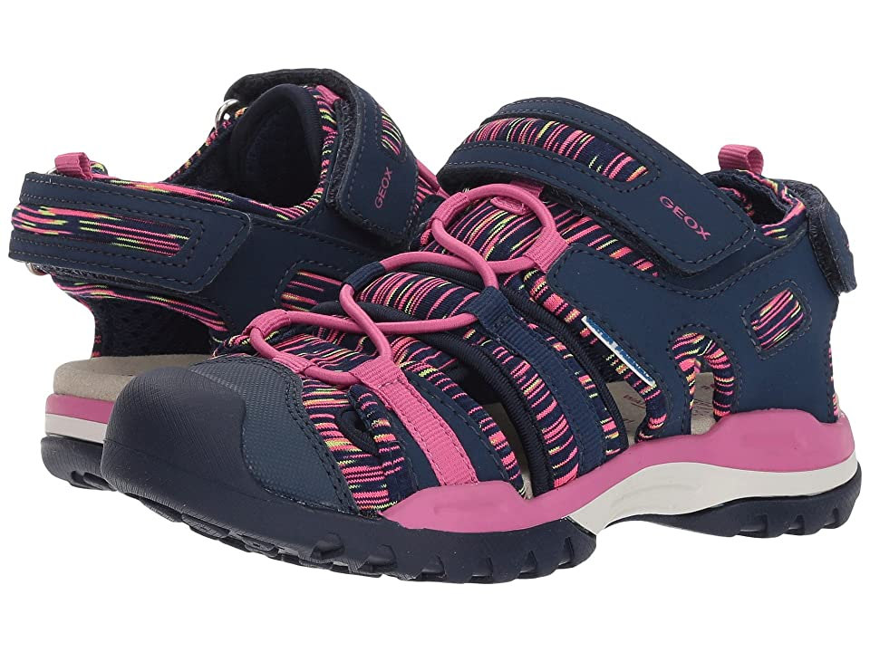 Geox Kids Borealis 8 (Toddler/Little Kid) (Navy/Fuchsia) Girl