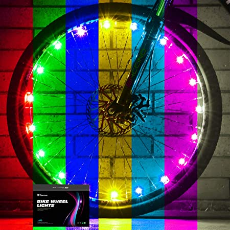 Sumree 2-Tire Pack LED Bike Wheel Lights with Batteries Included,Bike Spoke Light Super Bright .Bicycle Light Best Gifts for Boys and Girls Even for Men and Women