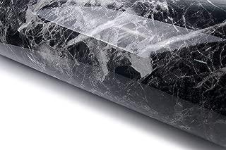 Very Berry Sticker Black Grey Granite Look Marble Effect Interior Film Vinyl Self Adhesive Peel-Stick Counter Top