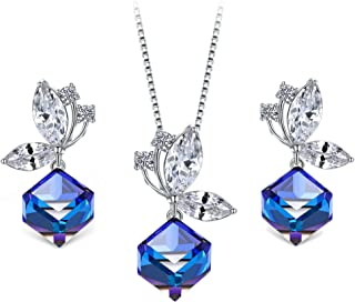 T400 Necklace and Earrings Jewelry Set for Women Crystals Jewellry Set Birthday Gifts
