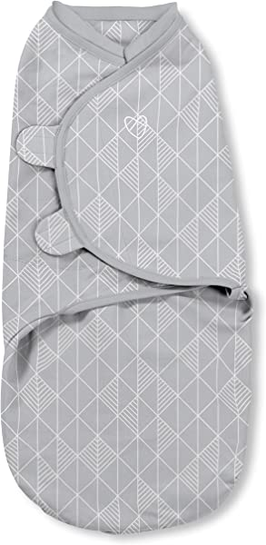 SwaddleMe Natural Position 2 In 1 Swaddle With Easy Change Zipper Art Deco Small 0 3 Months 7 14 Lb Up To 26