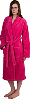 TowelSelections Women's Super Soft Plush Bathrobe Fleece Spa Robe Made in Turkey