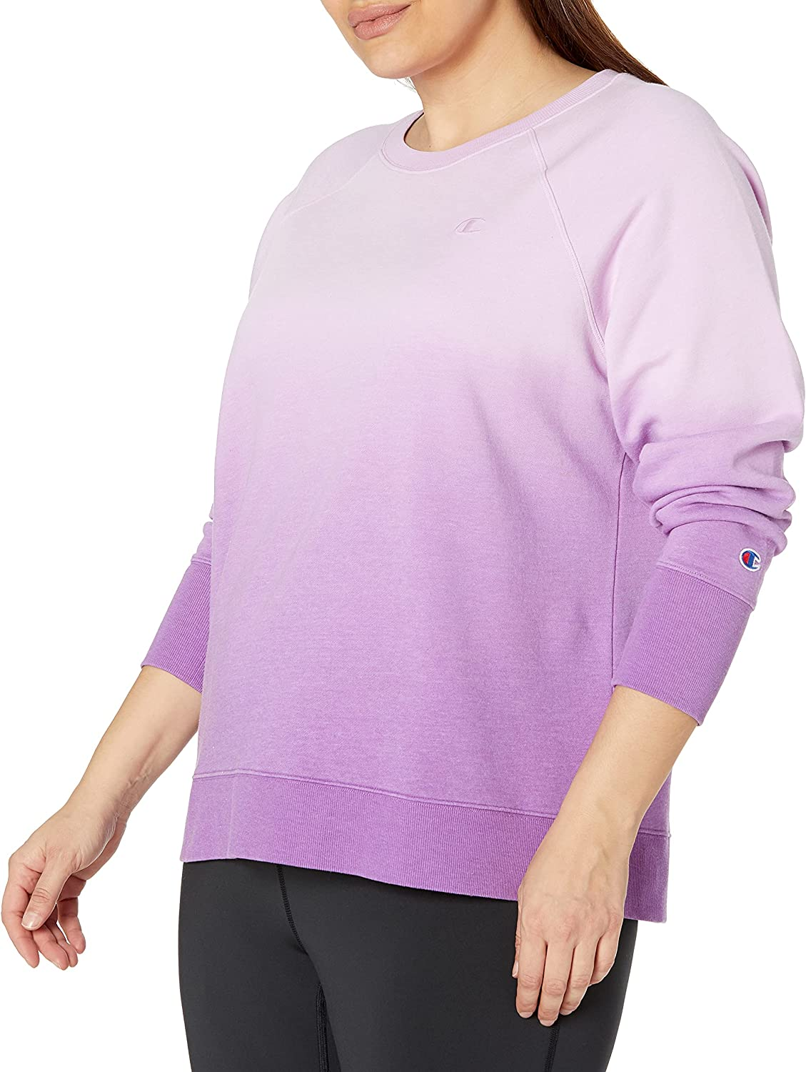 Champion Women's Plus Powerblend Ombre Cropped Crew