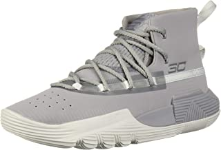 Under Armour Boys' Grade School SC 3Zer0 II Basketball Shoe, 101/Steel, 4.5