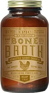 Epic Artisanal Bone Broth, Homestyle Savory Chicken, 14 oz. (6 Pack)