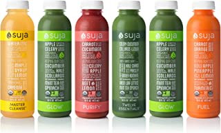 Suja Organic Cold-Pressed Juice, 3 Day Fresh Start Pack, 12 Fl Oz (Pack of 21), Plant-Powered Vegetable and Fruit Juices, Vegan, Gluten-free, Non-GMO, Made in USA