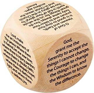 "Christian Brands Youth Childrens Catholic Gift Learning Toy Large 2 1/4"" Wood Original Our Father Prayer Cube"
