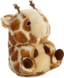 "Aurora - Rolly Pet - 5"" Giminy Giraffe, White, Tan"