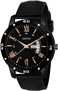 "Matrix""Mesh Collection"" Day & Date Wrist Watch for Men & Boys (DD-60)"