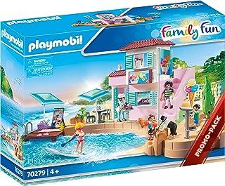 Playmobil Waterfront Ice Cream Shop, Multicoloured