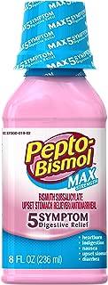 Pepto-Bismol Max 5 Symptom Relief Including Upset Stomach and Diarrhea Original Flavor Liquid, 8 Ounce
