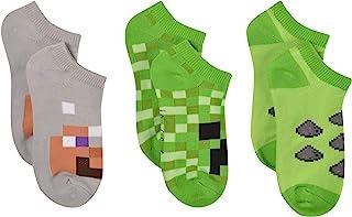 Minecraft Niños Overworld 3PK No Show Socks (4/6)