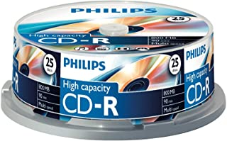 Philips CD-R 800 MB Data (Gbyte/90 Minuten, Multi Speed Recording 25er