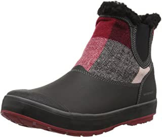 Women's elsa Chelsea wp-w Snow Boot, Red Dahlia Wool, 5 M US