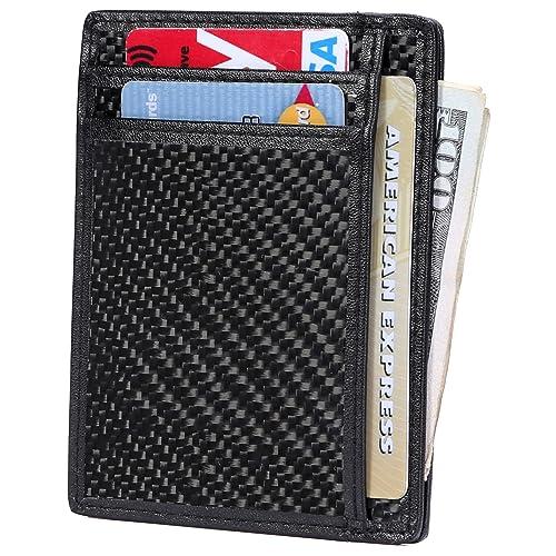 Slim Wallet RFID Front Pocket Wallet Minimalist Secure Thin Credit Card  Holder 13bfdffede70