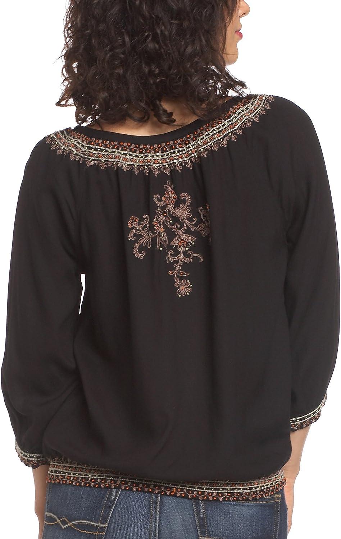 Lucky Brand Women's Elbow Sleeve Tunic Top