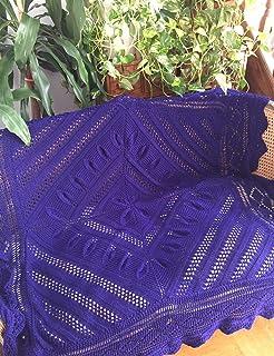 Manta tejida 100% a mano o cobertor de cama, cubrecamas, adorno para sofás y sillones, cuadrada, mediana, de lana virgen, ...