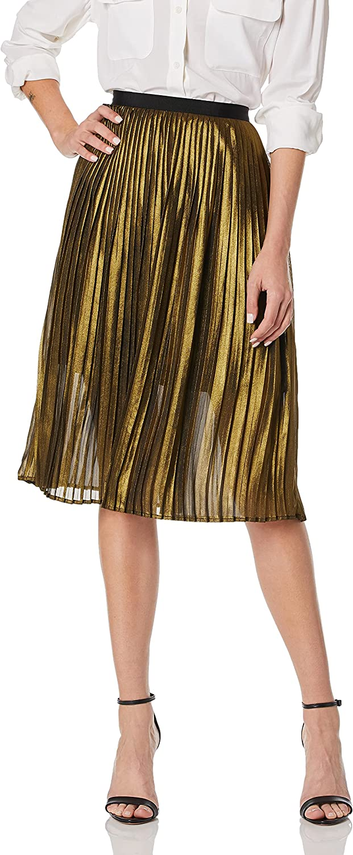 BB DAKOTA Women's Trouble Print Skirt low-pricing Pleated Foil depot