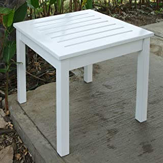 Cambridge-Casual AMZ-180100W Bentley, Square Side Table, White