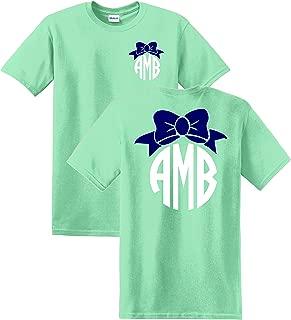 bow monogram shirt