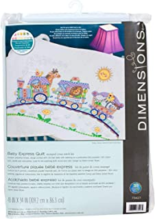Dimensions Stamped Cross Stitch 'Baby Express' DIY Baby Quilt, 34