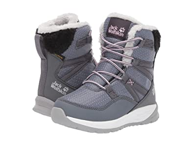 Jack Wolfskin Kids Polar Wolf Texapore High (Toddler/Little Kid/Big Kid) (Pebble Grey/Off-White) Girls Shoes