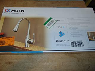 MOEN Kaden Single-Handle Pull-Down Sprayer Kitchen Faucet with Reflex in Chrome