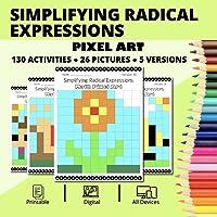 Spring: Simplifying Radical Expressions Pixel Art