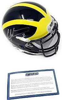 Charles Woodson Michigan Wolverines Signed Autograph Schutt Mini Helmet Steiner Sports Certified