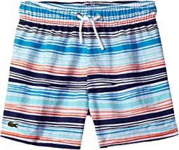 Irregular Stripe Swimsuit (Little Kids/Big Kids)