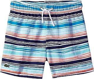 [ラコステ] Lacoste Kids ボーイズ Irregular Stripe Swimsuit (Little Kids/Big Kids) 水着 Multicolor 5 (Little Kids) [並行輸入品]