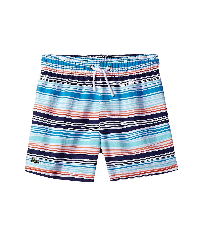 [ラコステ] Lacoste Kids ボーイズ Irregular Stripe Swimsuit (Little Kids/Big Kids) 水着 Multicolor 4 (Little Kids) [並行輸入品]
