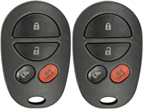 New Replacement Keyless Entry Remote Key Fob for Toyota Sienna with FCC ID GQ43VT20T (2 Pack)